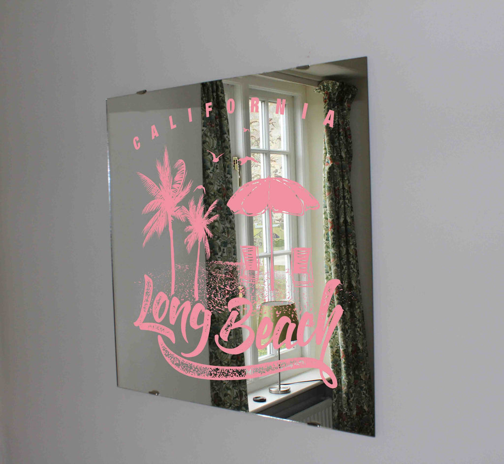 New Product California Long beach (Mirror Art print)  - Andrew Lee Home and Living