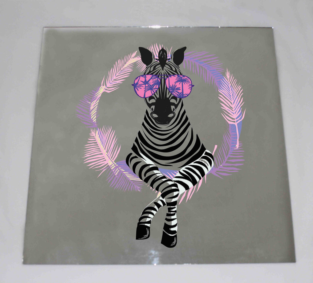 New Product Cool Zebra in Sun Glasses(Mirror Art print)  - Andrew Lee Home and Living