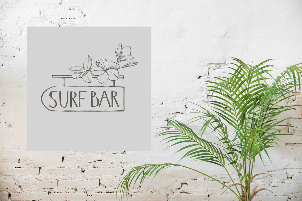 New Product Surf bar (Mirror Art print)  - Andrew Lee Home and Living