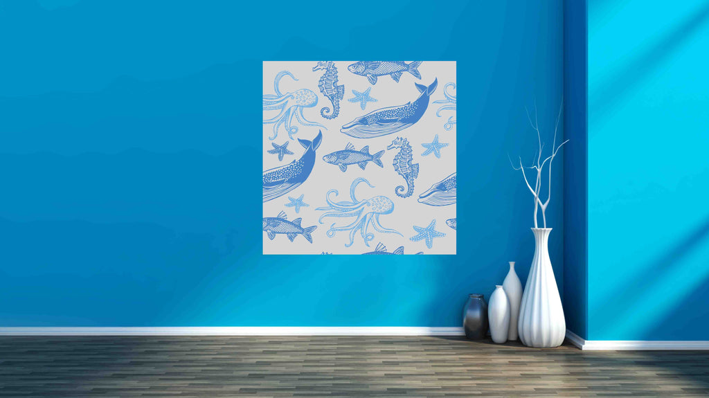 New Product Fish, sea star, whale, sea horse, octopus (Mirror Art print)  - Andrew Lee Home and Living