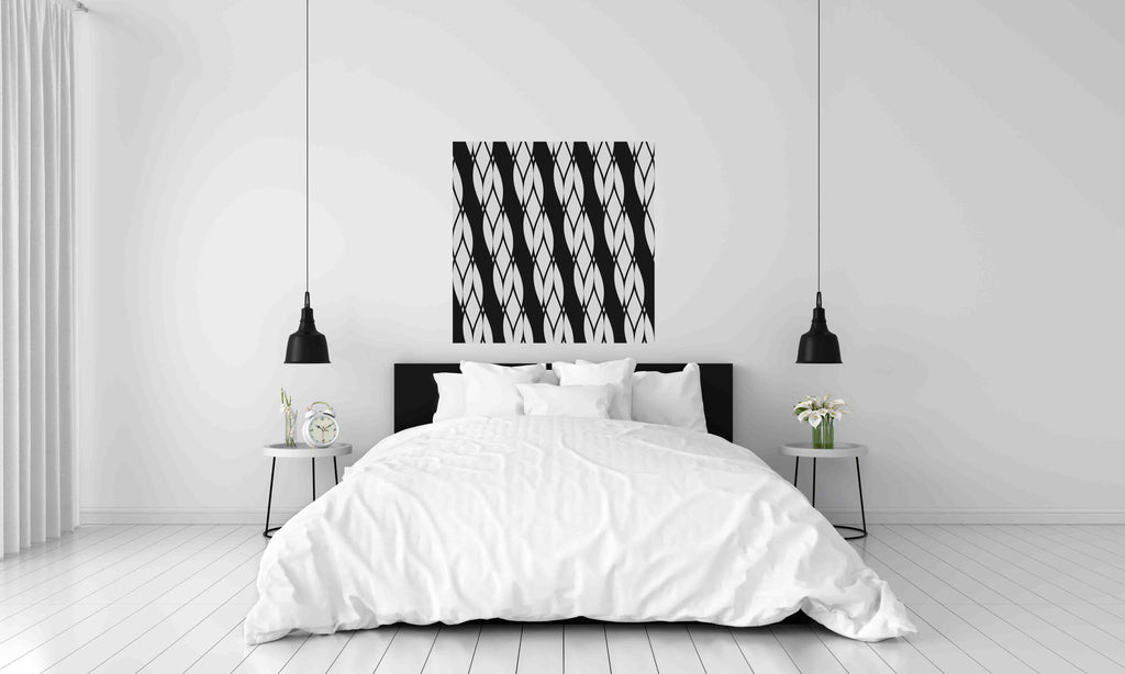 New Product Raster diagonal ropes (Mirror Art print)  - Andrew Lee Home and Living