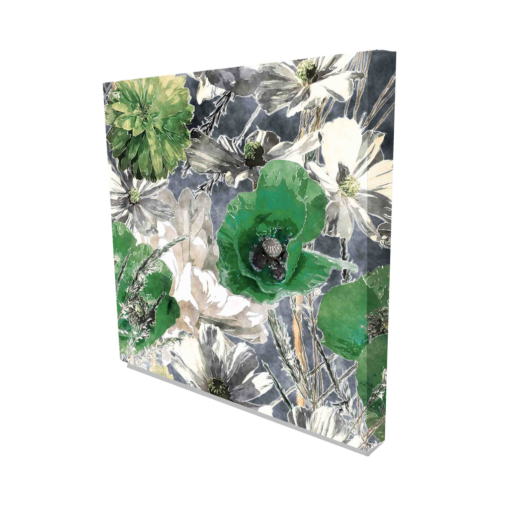 New Product Green poppies and art deco (Canvas Print)  - Andrew Lee Home and Living