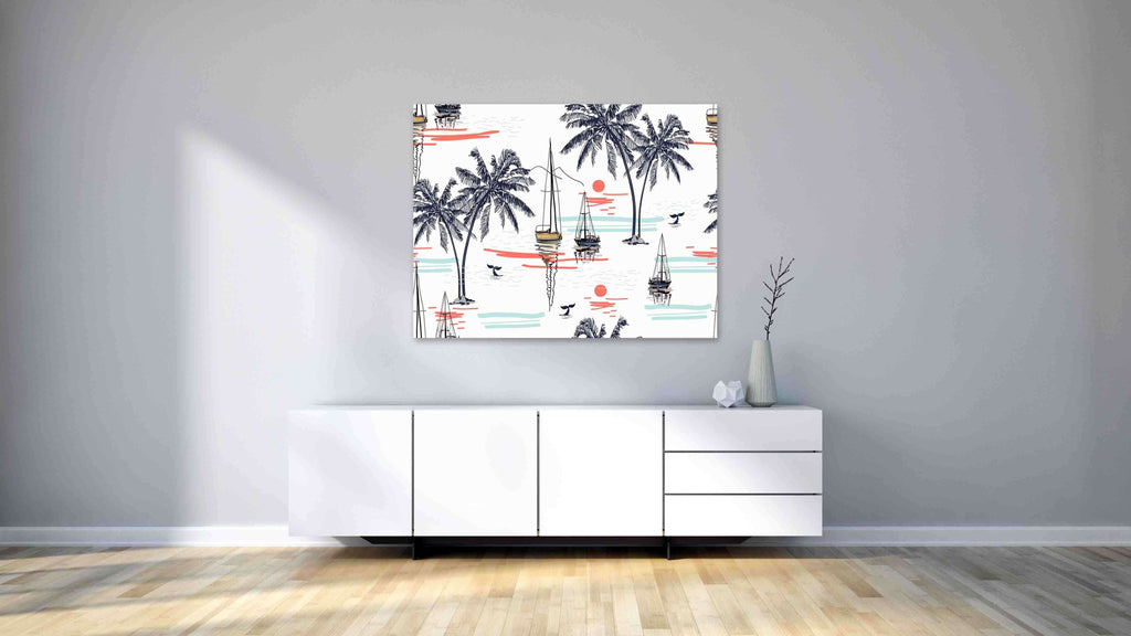 New Product Beautiful tropical coconut palm trees (Canvas Prints)  - Andrew Lee Home and Living