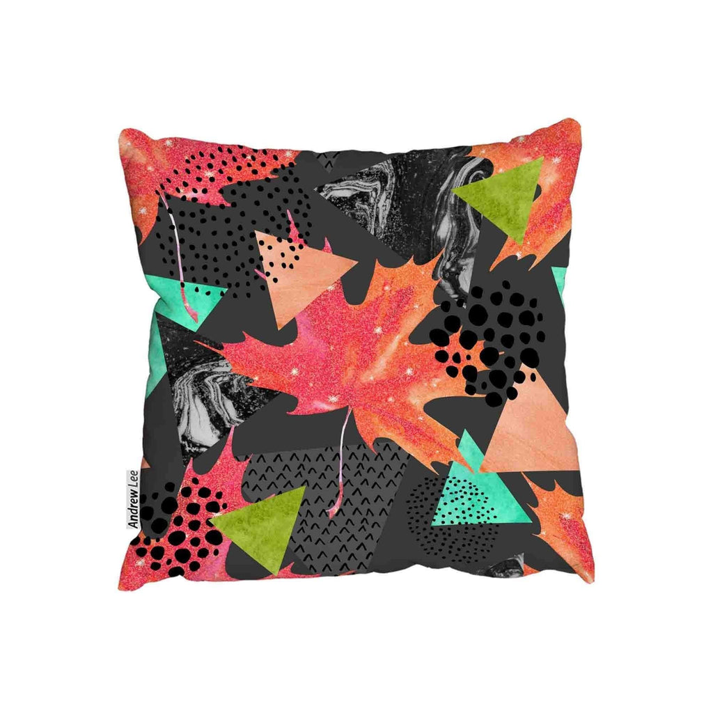 New Product Abstract autumn geometric leaf (Cushion)  - Andrew Lee Home and Living