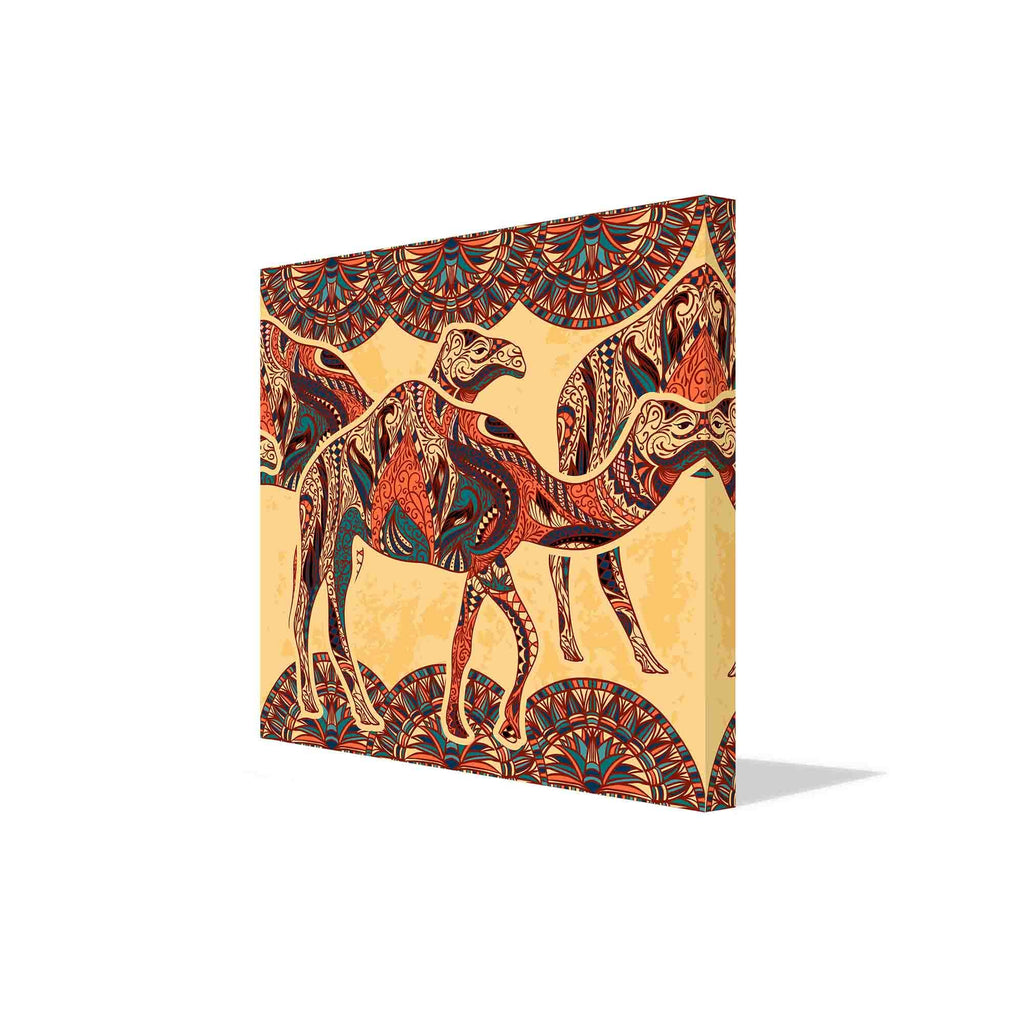 New Product Camel decorated with oriental canvas print (Canvas Print)  - Andrew Lee Home and Living Homeware