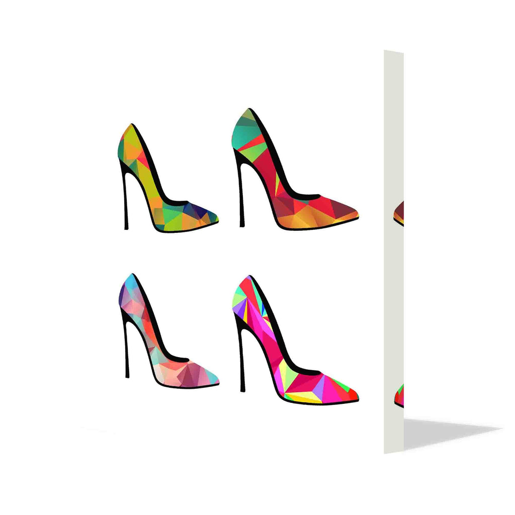 New Product Polygonal shoes (Canvas Print)  - Andrew Lee Home and Living Homeware