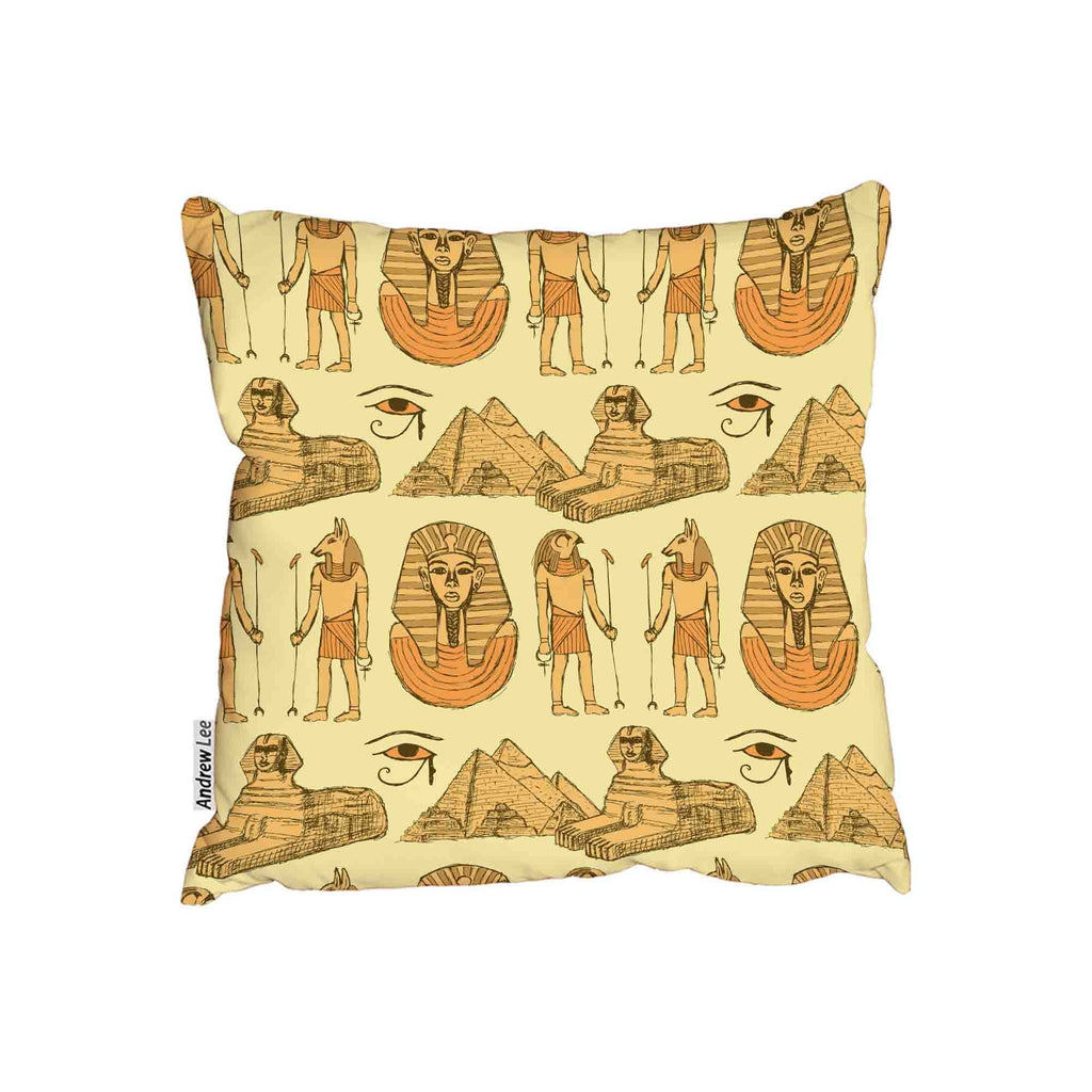 New Product Egyptian Sketch symbols (Cushion)  - Andrew Lee Home and Living Homeware