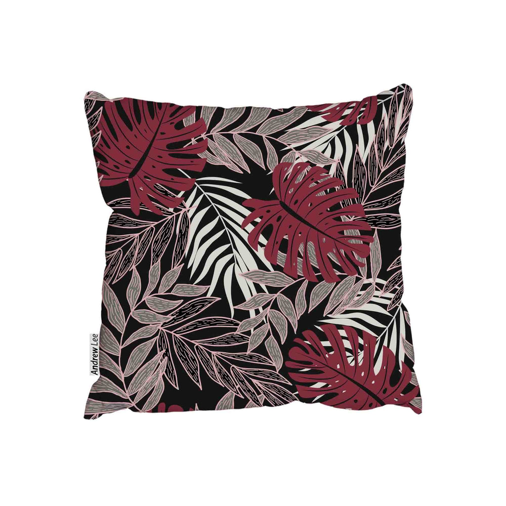 New Product Tropical leaves and plants on dark background (Cushion)  - Andrew Lee Home and Living