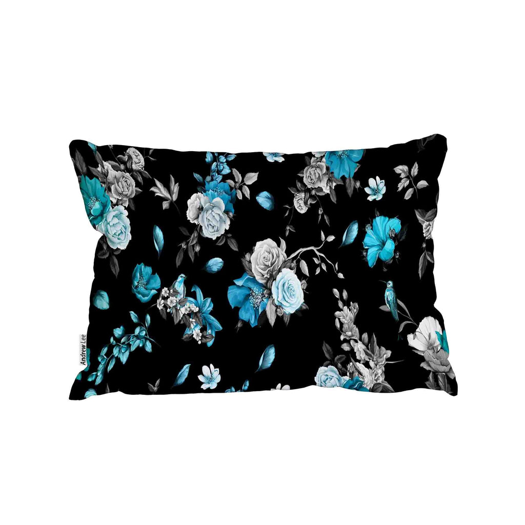 New Product Rose, peony, poppy, pomegranate buds and nightingales (Cushion)  - Andrew Lee Home and Living