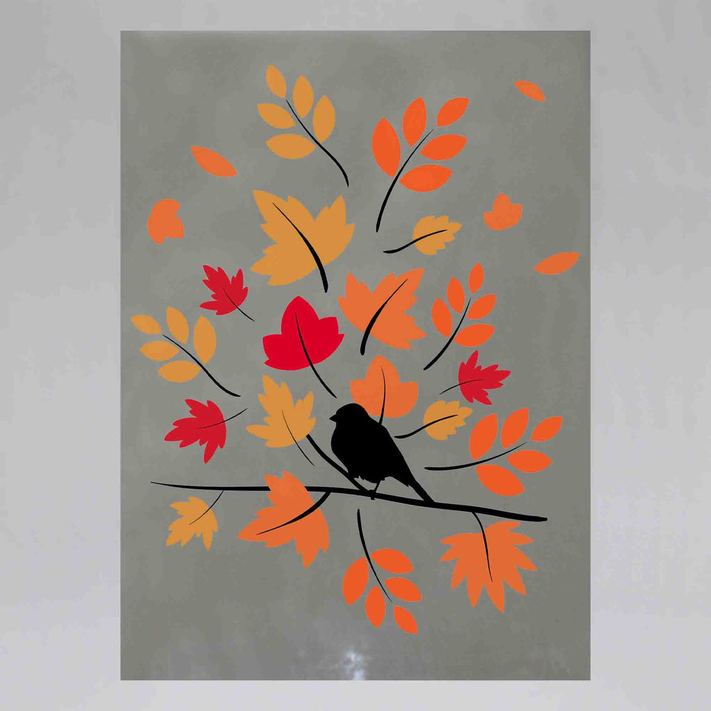 New Product Sparrow on a branch (Mirror Art print)  - Andrew Lee Home and Living