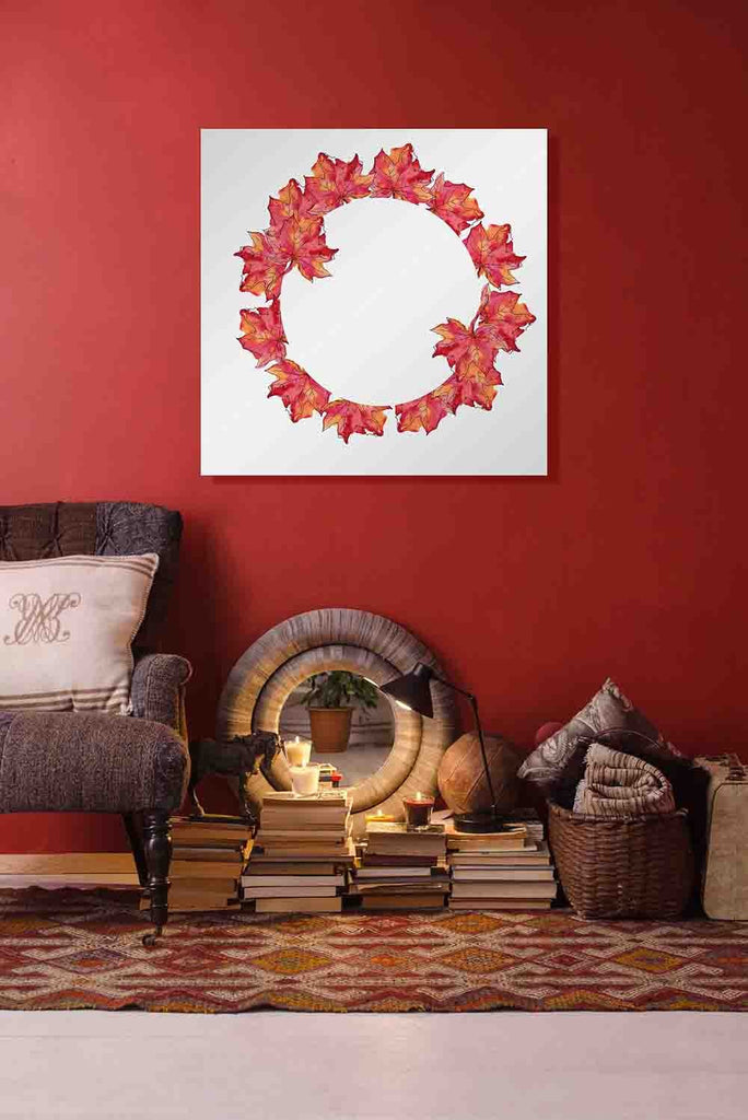 New Product Red maple leaves frame (Mirror Art print)  - Andrew Lee Home and Living