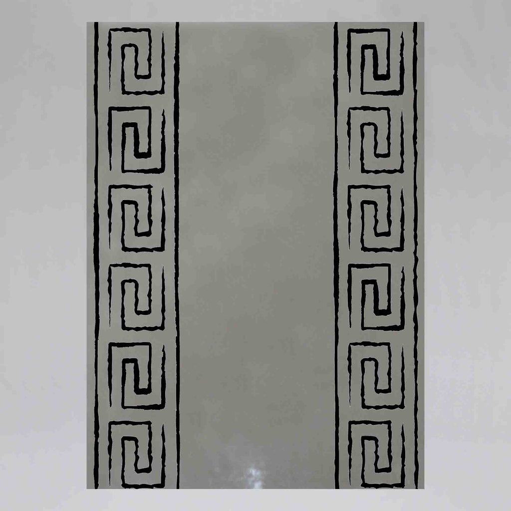 New Product Black and white greek meander (Mirror Art print)  - Andrew Lee Home and Living
