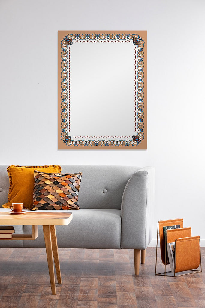 New Product Decorative frame in Egyptian motifs (Mirror Art print)  - Andrew Lee Home and Living