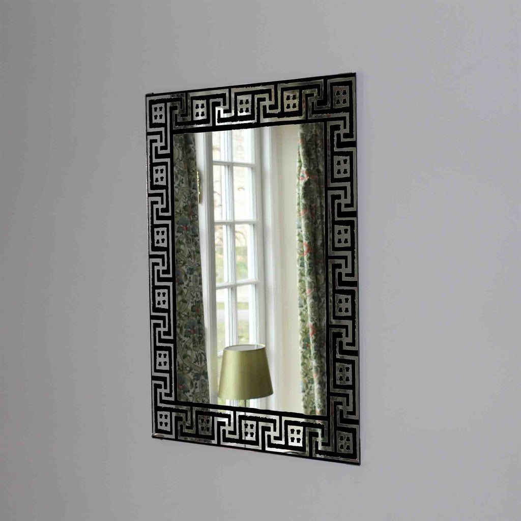 New Product Greek traditional meander pattern (Mirror Art print)  - Andrew Lee Home and Living