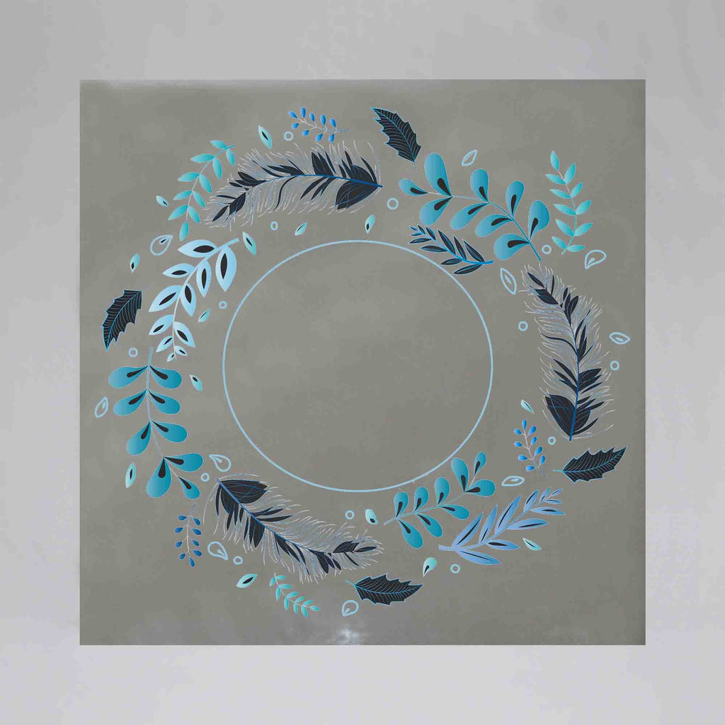New Product Decorative wreath (Mirror Art print)  - Andrew Lee Home and Living