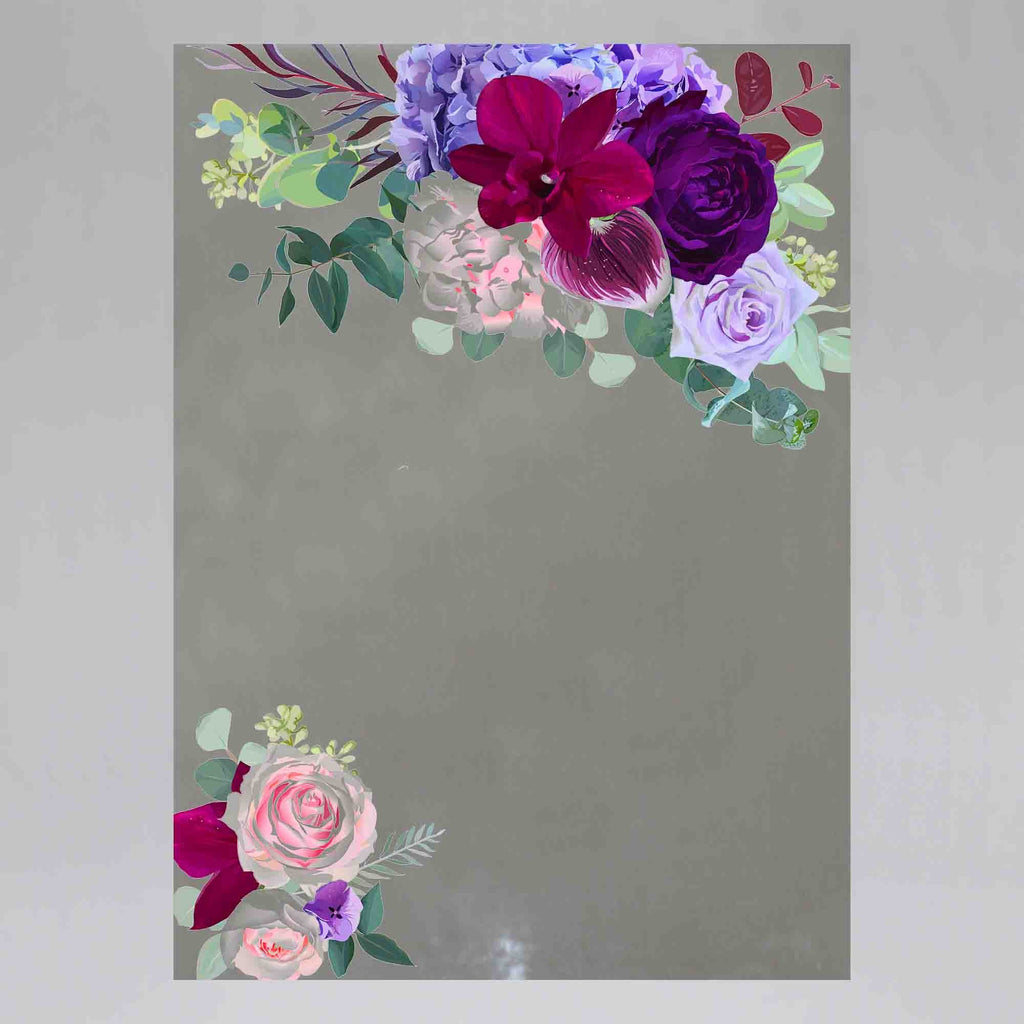 New Product Elegant seasonal dark flowers (Mirror Art print)  - Andrew Lee Home and Living