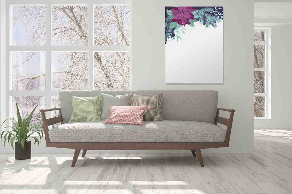New Product Floral vintage (Mirror Art print)  - Andrew Lee Home and Living