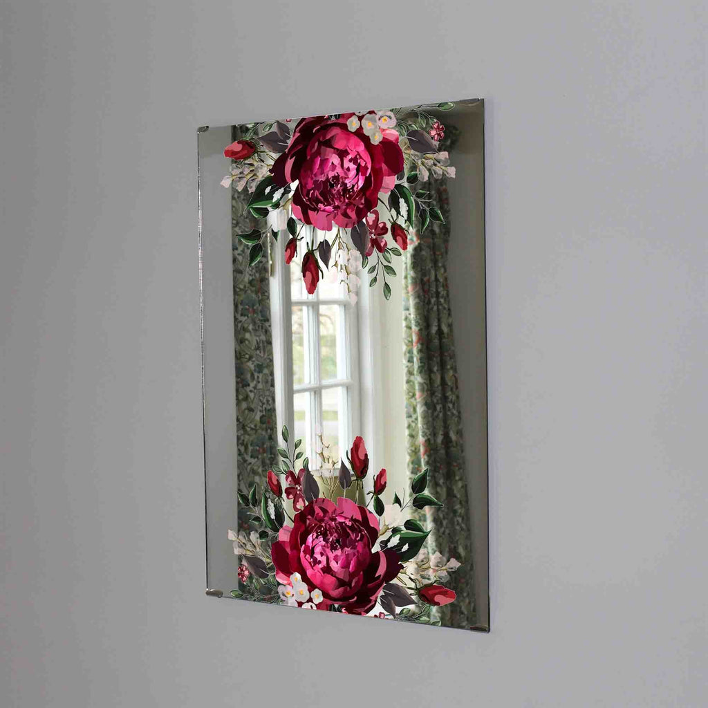 New Product Marsala dark red peony (Mirror Art print)  - Andrew Lee Home and Living