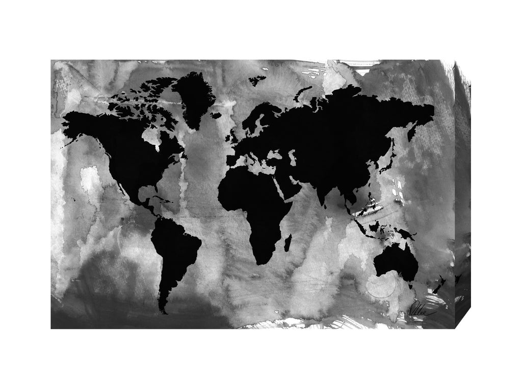 New Product Black And White World Map  - Andrew Lee Home and Living