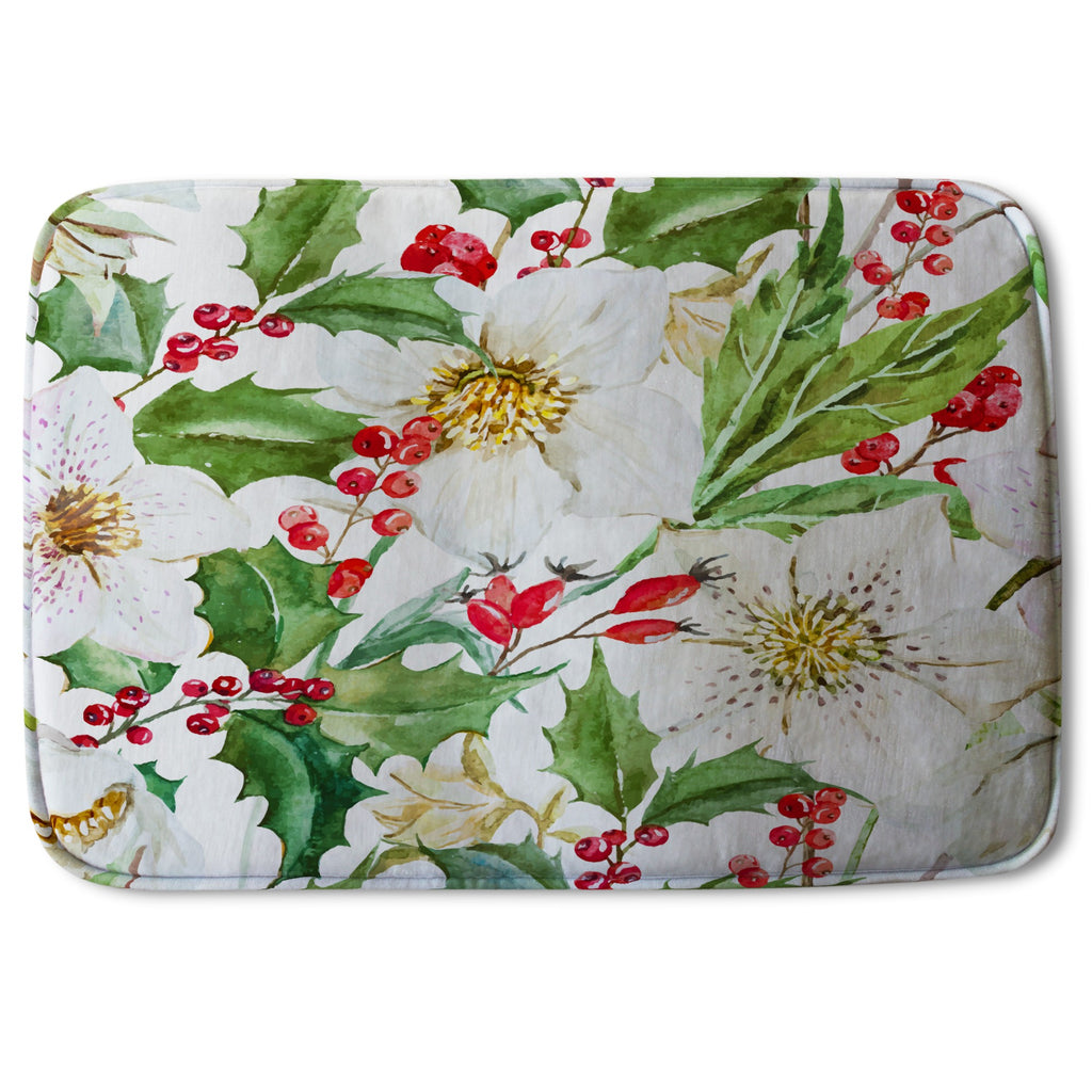 New Product Watercolour Christmas pattern (Bath Mat)  - Andrew Lee Home and Living