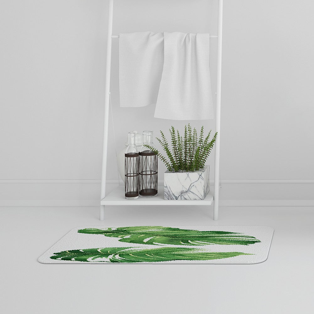 New Product Twin Botanical Leaves (Bath Mat)  - Andrew Lee Home and Living