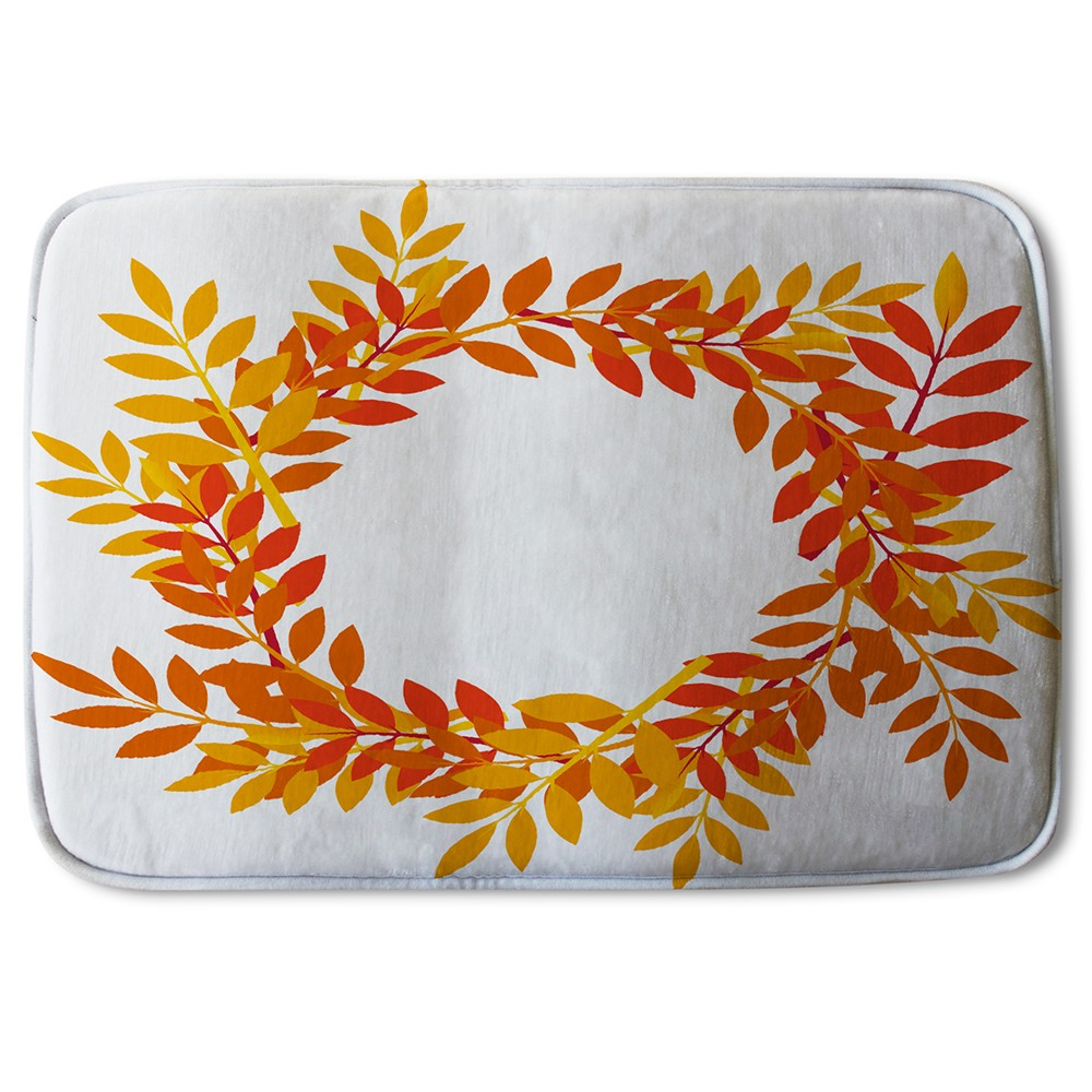 New Product Orange & Red Autumn Leaves (Bath Mat)  - Andrew Lee Home and Living