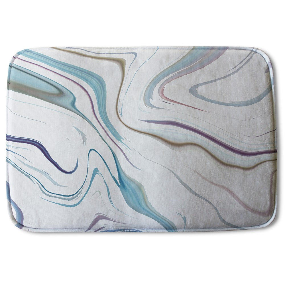 New Product Blue Rippled Marble (Bath Mat)  - Andrew Lee Home and Living