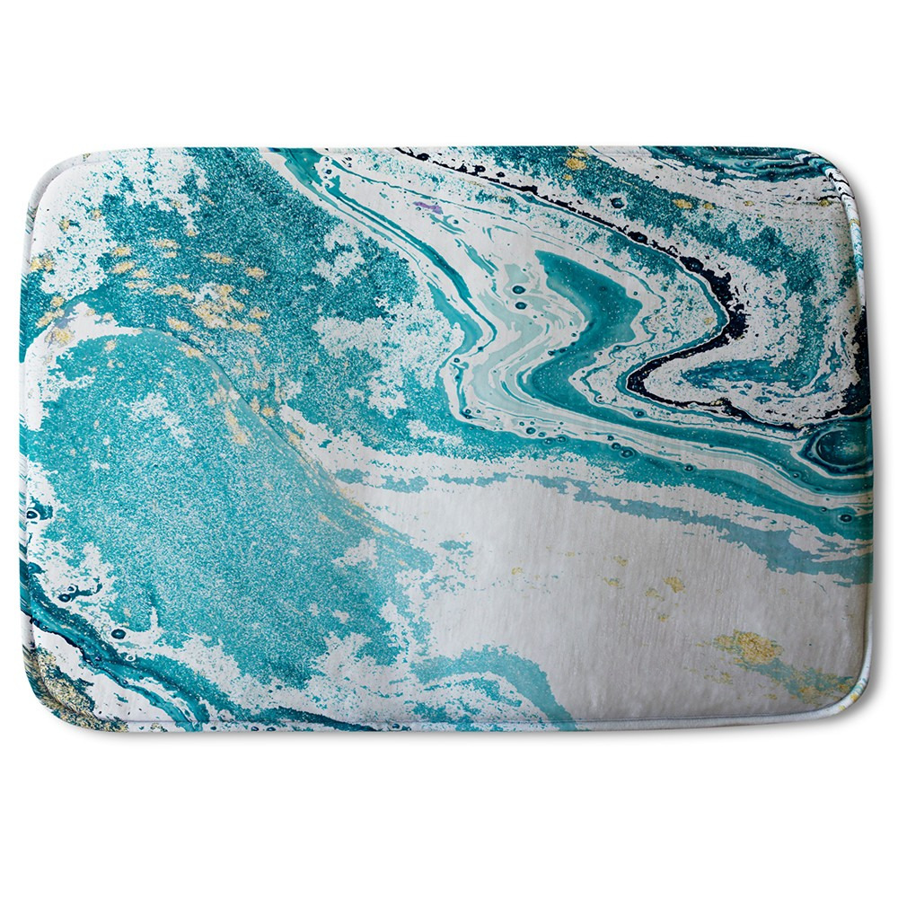 New Product Blue Marble (Bath Mat)  - Andrew Lee Home and Living