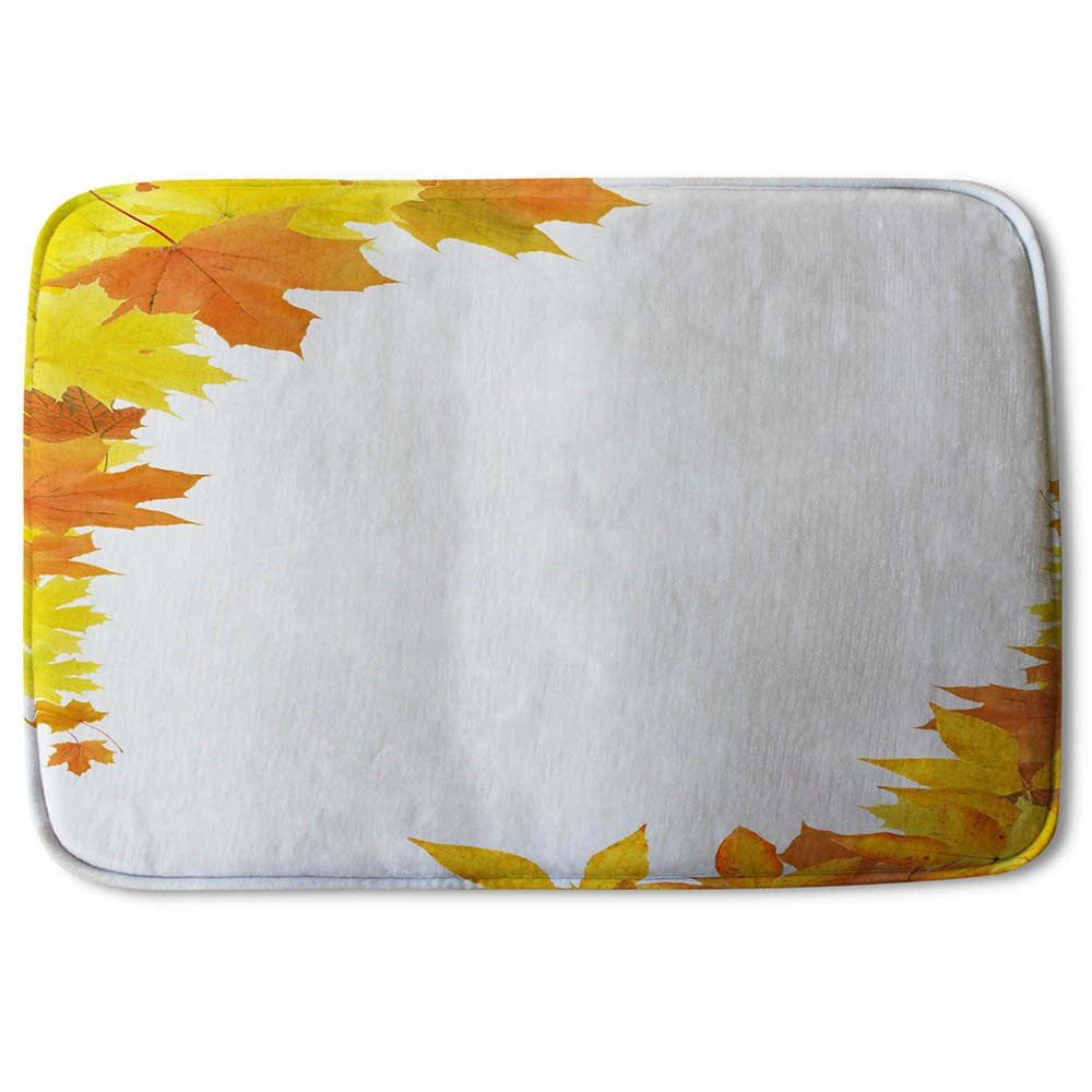 New Product Yellow Autumn Border (Bath Mat)  - Andrew Lee Home and Living