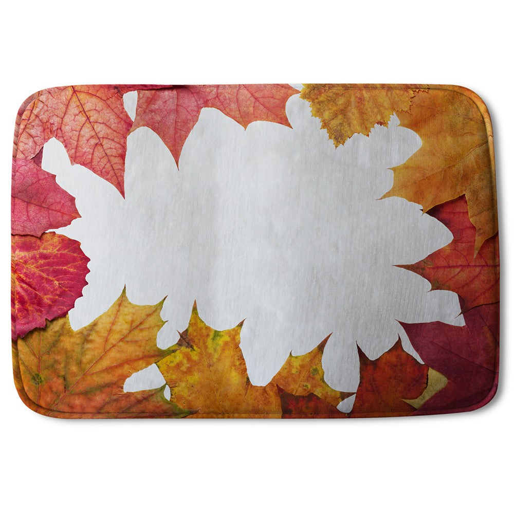New Product Red Autumn Border (Bath Mat)  - Andrew Lee Home and Living