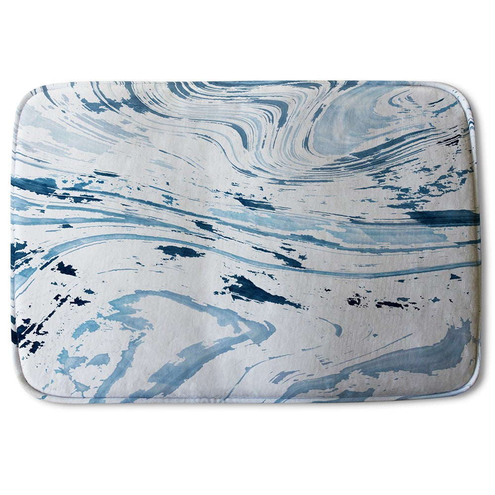 New Product Light Blue Marble (Bath Mat)  - Andrew Lee Home and Living