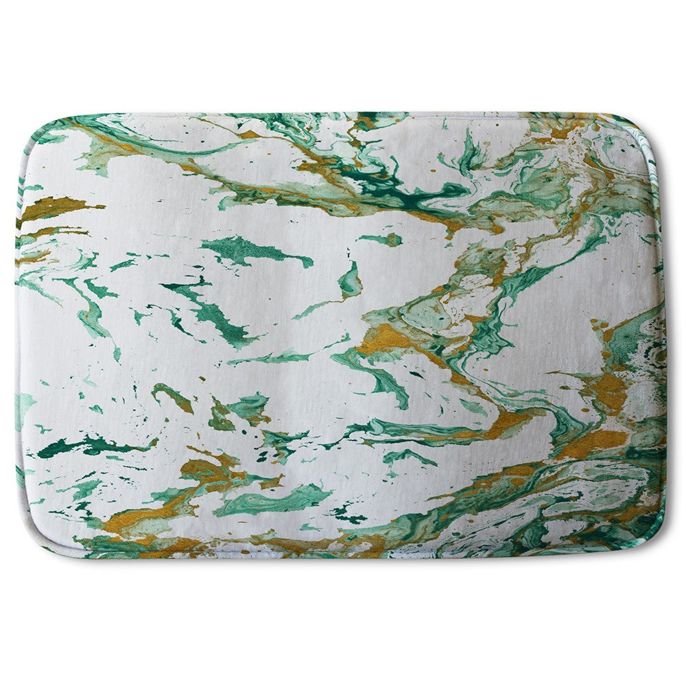 New Product Green & Golden Marble (Bath Mat)  - Andrew Lee Home and Living
