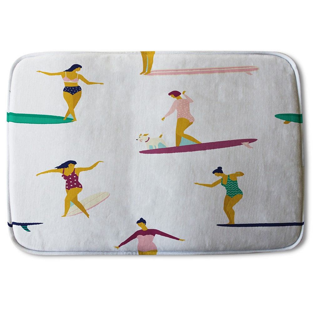 New Product Female Surfers (Bath Mat)  - Andrew Lee Home and Living