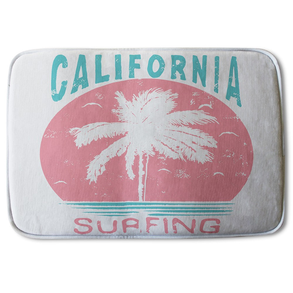 New Product California Surfing (Bath Mat)  - Andrew Lee Home and Living