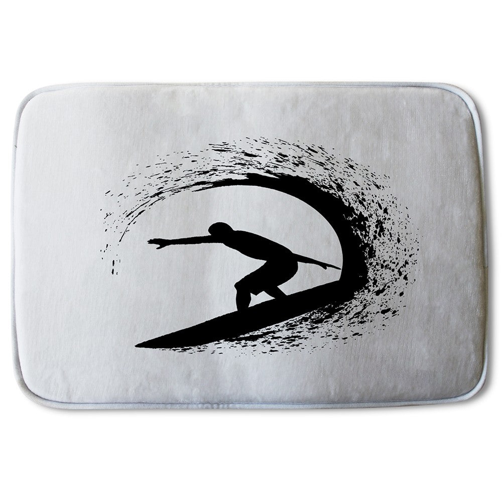 New Product Surfer Silhouette (Bath Mat)  - Andrew Lee Home and Living