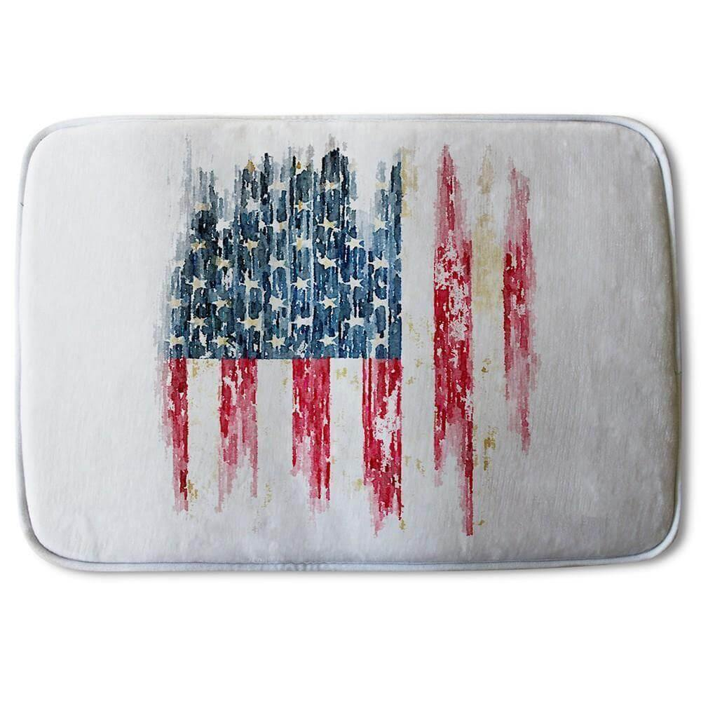 New Product American Grunge Flag (Bath Mat)  - Andrew Lee Home and Living