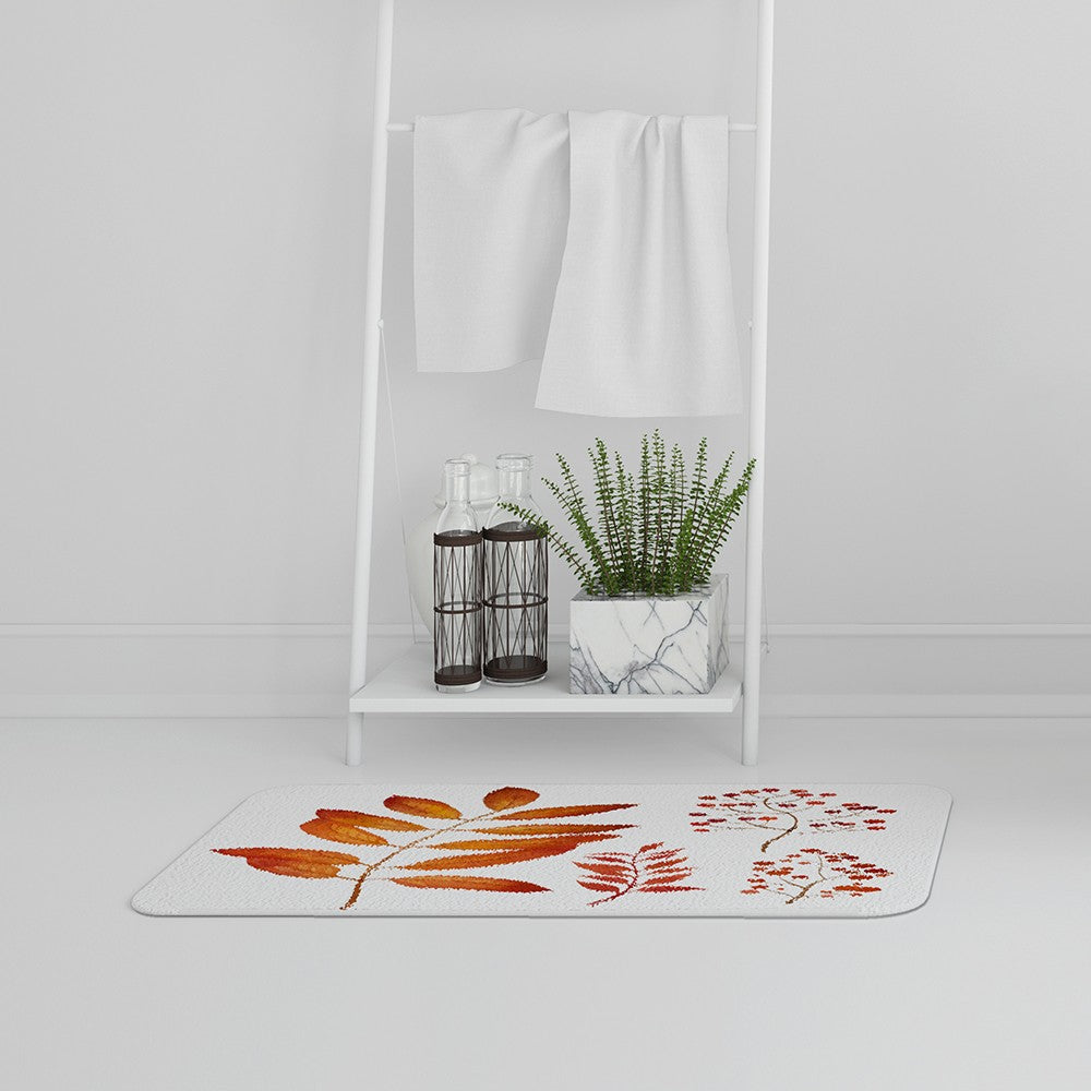 New Product Orange Autumn Leaves (Bath Mat)  - Andrew Lee Home and Living