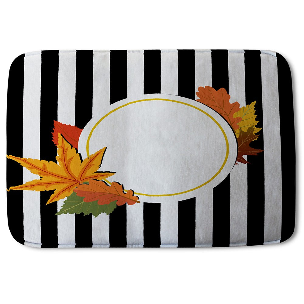 New Product Black Stripes, Autumn Leaves (Bath Mat)  - Andrew Lee Home and Living