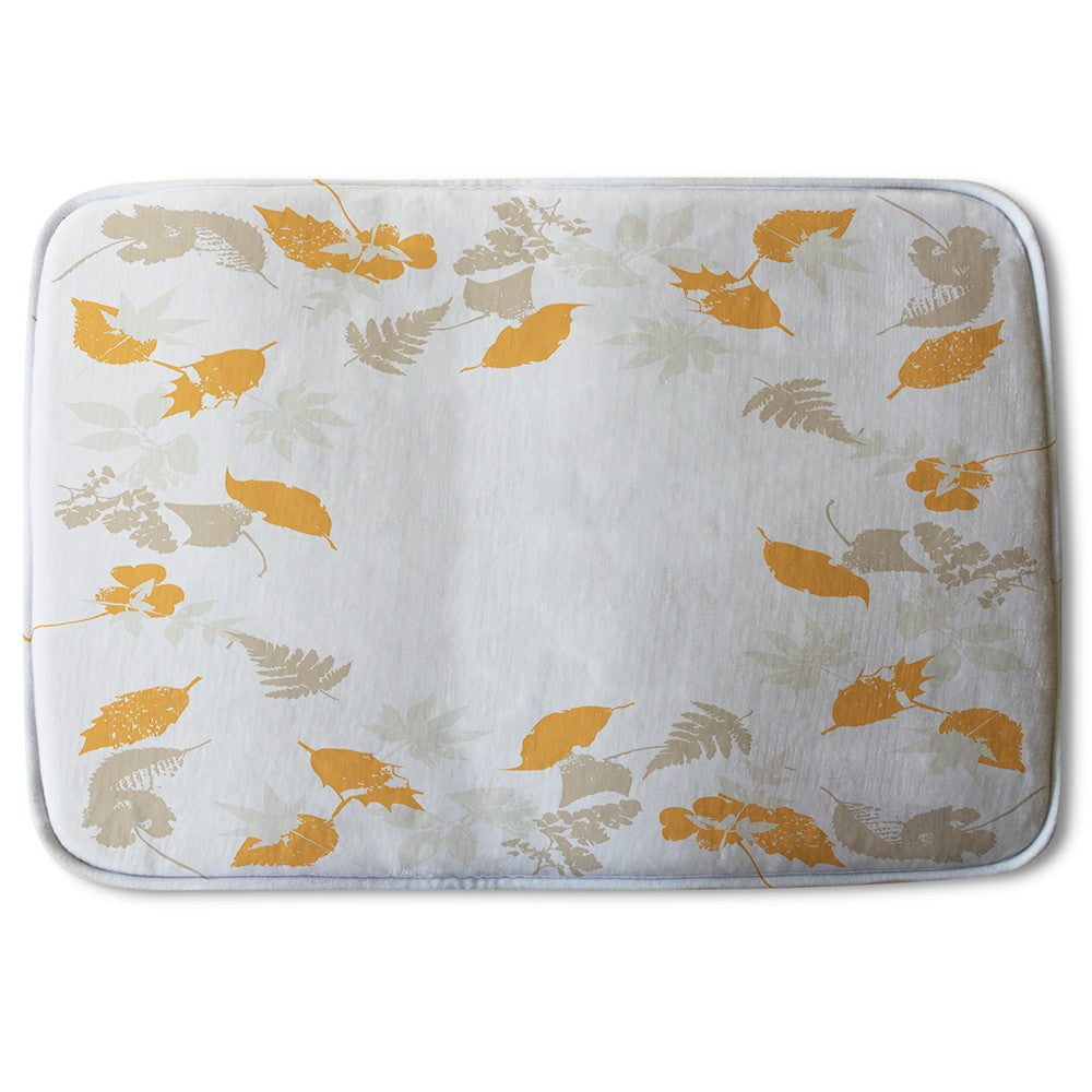 New Product Orange & Grey Autumn Leaves (Bath Mat)  - Andrew Lee Home and Living