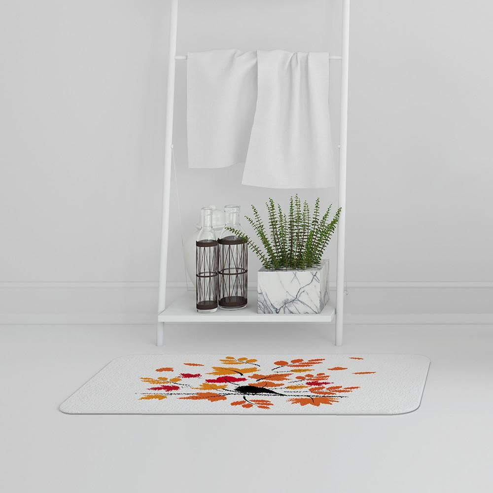 New Product Autumn Bird on Branch (Bath Mat)  - Andrew Lee Home and Living