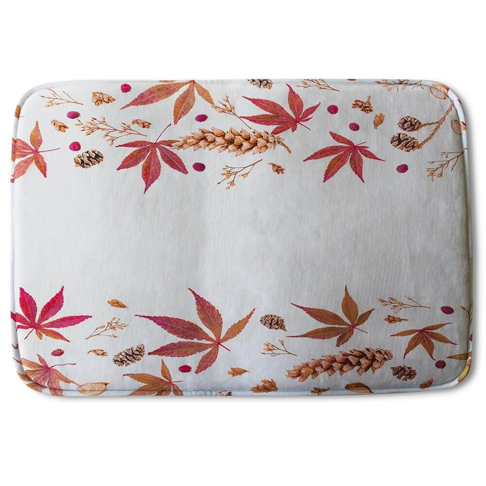 New Product Autumn Leaves Half Border (Bath Mat)  - Andrew Lee Home and Living