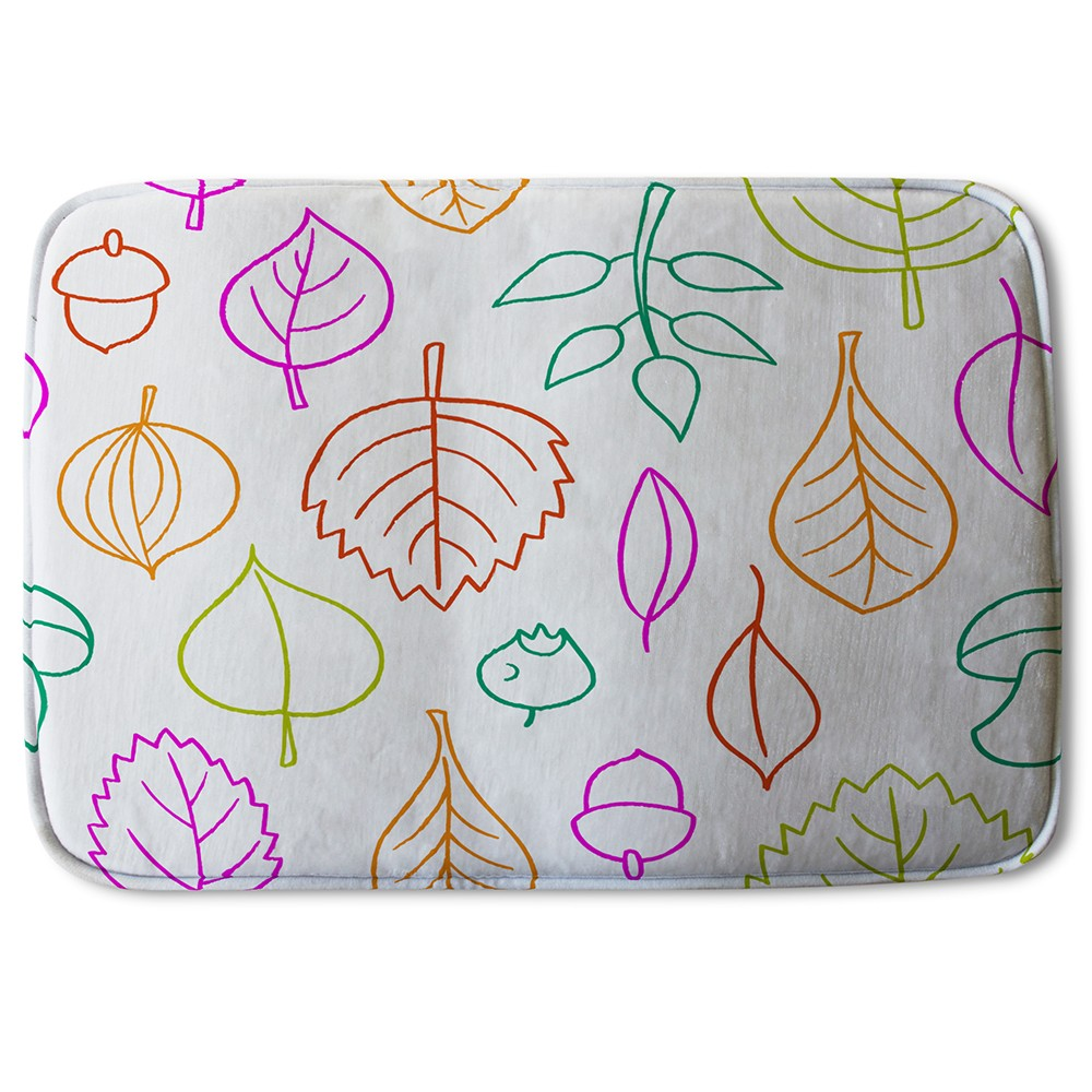 Bathmat - New Product Multi Colour Leaves Illustration (Bath Mats)  - Andrew Lee Home and Living