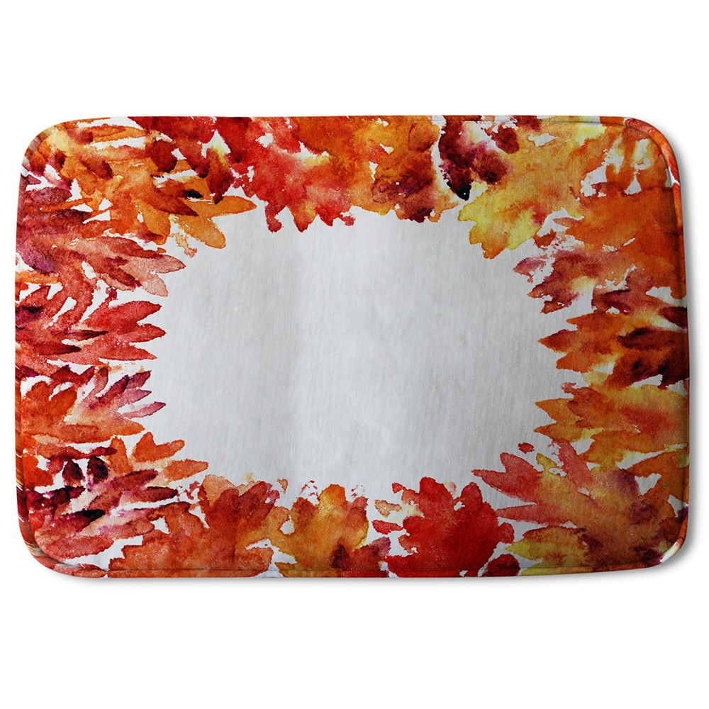 New Product Circled Autumn Leaves (Bath Mat)  - Andrew Lee Home and Living
