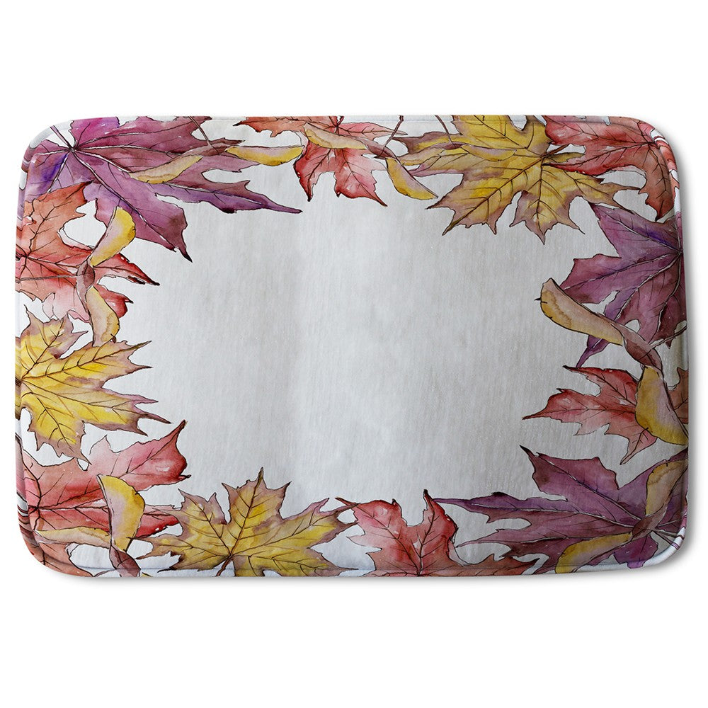 New Product Gold & Purple Leaves (Bath Mat)  - Andrew Lee Home and Living