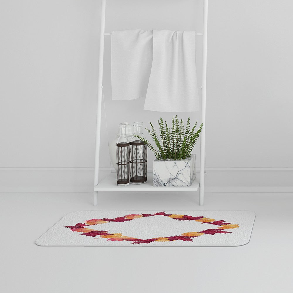 New Product Diamond Autumn Reath (Bath Mat)  - Andrew Lee Home and Living