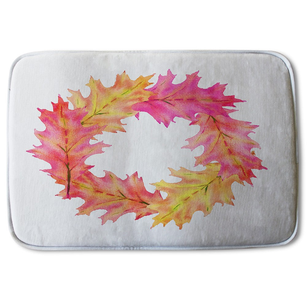 New Product Pink & Orange Autumn Reath (Bath Mat)  - Andrew Lee Home and Living
