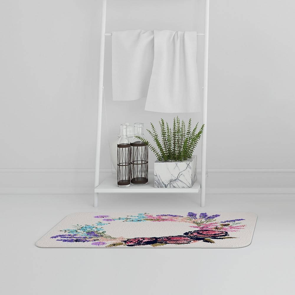 New Product Beautiful Reath (Bath Mat)  - Andrew Lee Home and Living