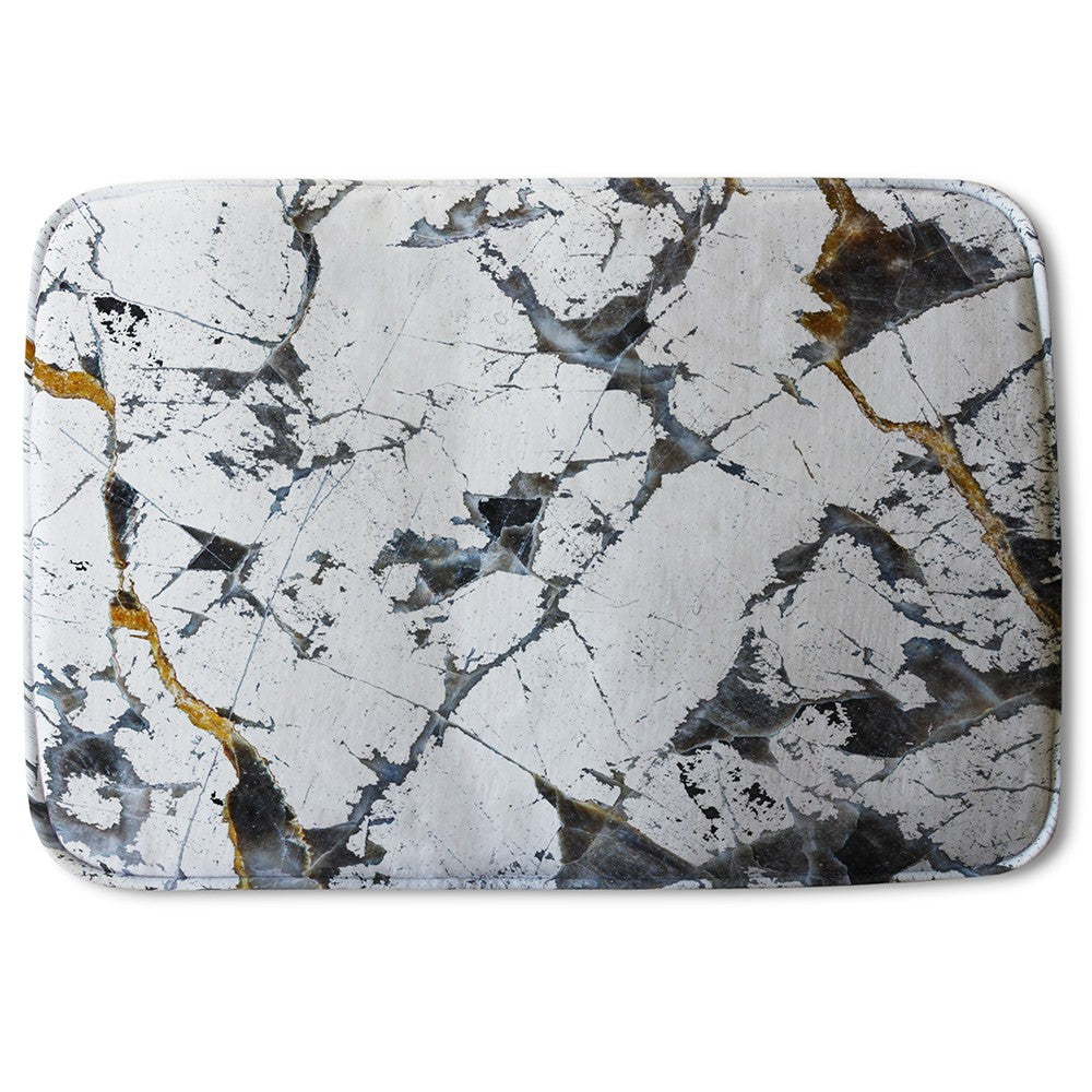 New Product Black & Gold Marble (Bath Mat)  - Andrew Lee Home and Living