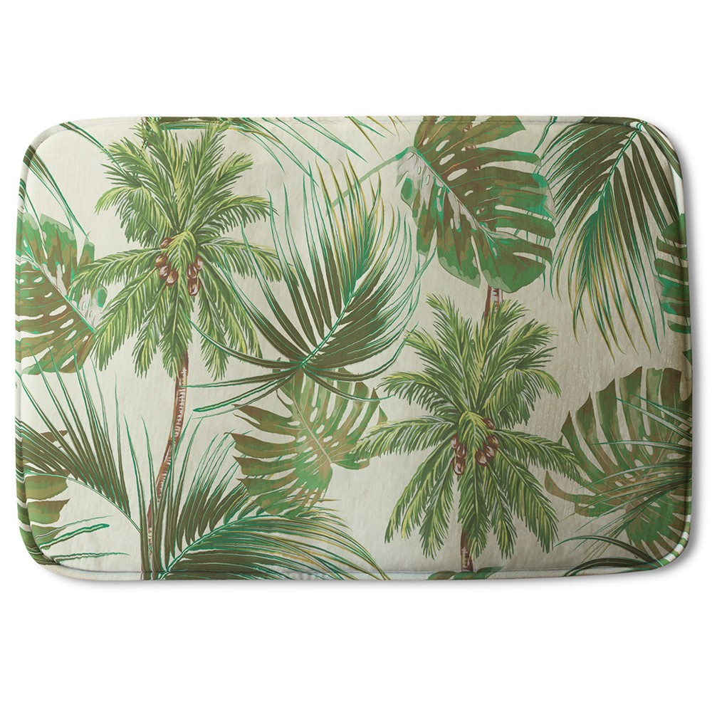 New Product Tropical Leaves on Yellow (Bath Mat)  - Andrew Lee Home and Living