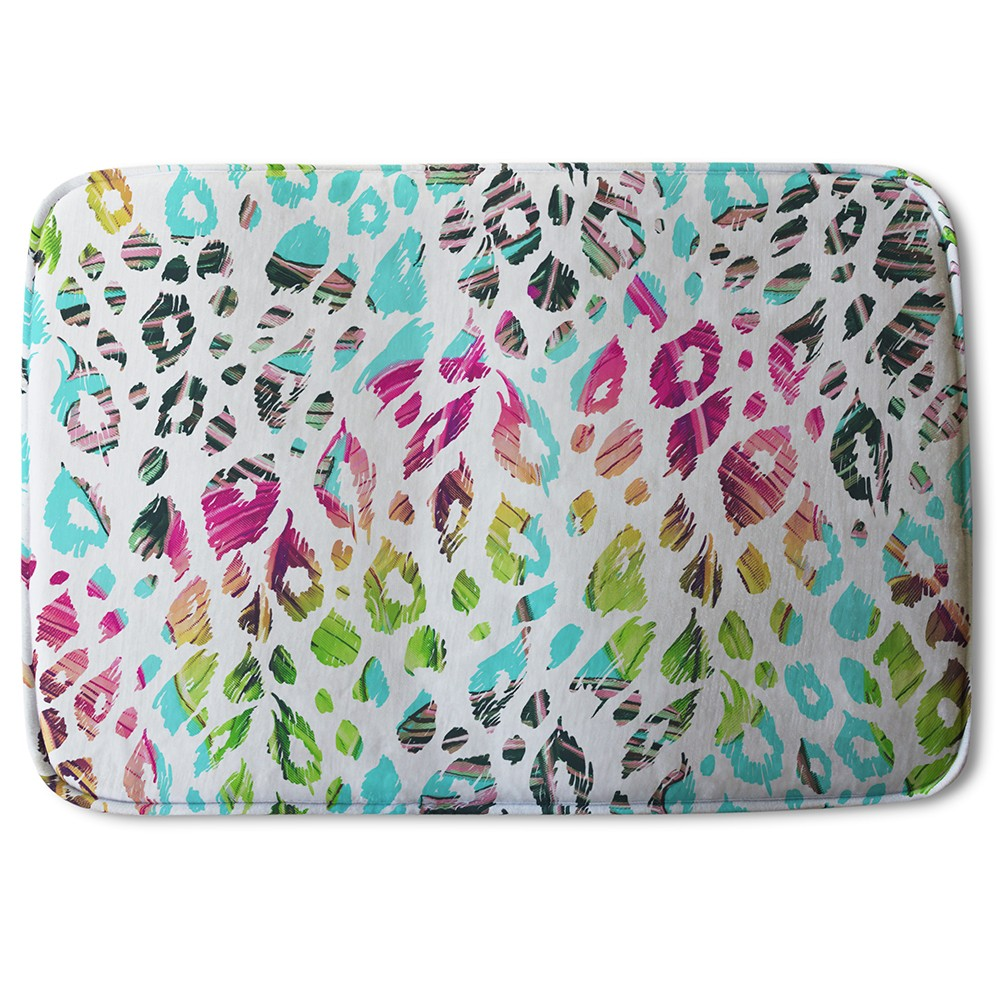 New Product Multi Coloured Leopard Spots (Bath Mat)  - Andrew Lee Home and Living
